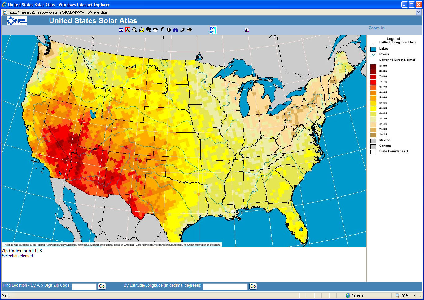 This map viewer from the National Renewable Energy Laboratory (NREL) uses Web GIS