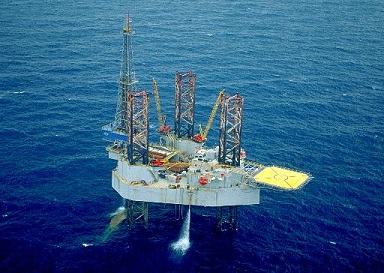 The Noble John Sandifer jackup oil rig