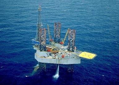The Noble John Sandifer jackup oil rig
