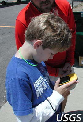 Boy with GPS