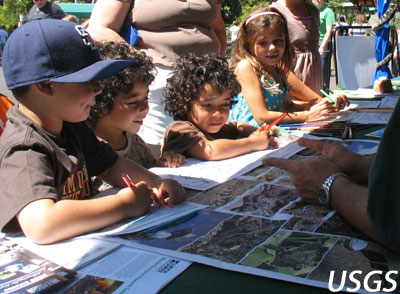 Children Learning from USGS