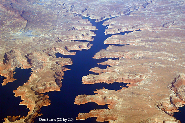 A section of Lake Powell.