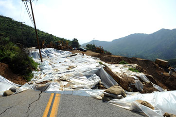 Image of landslide destruction