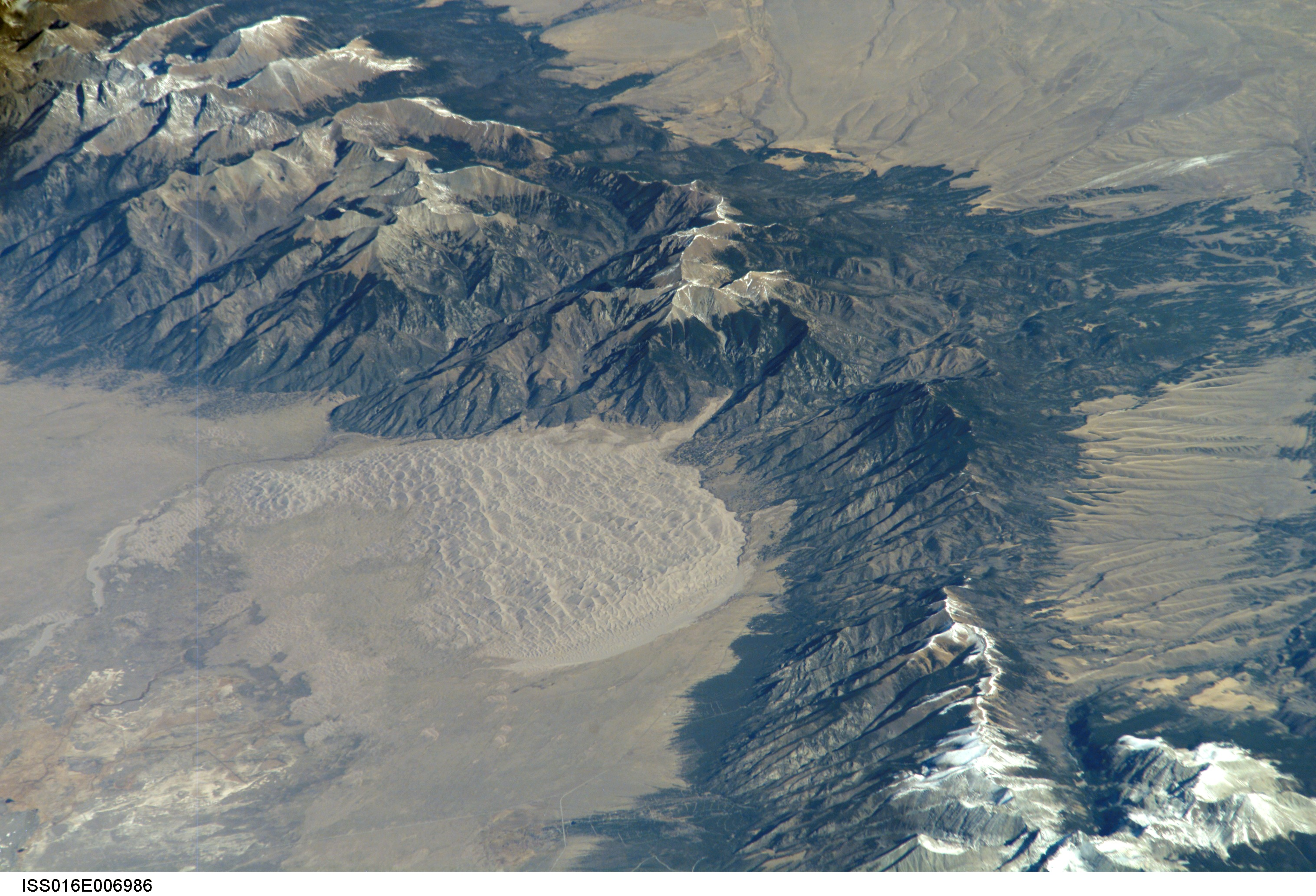 Great Sand Dunes National Park photographed from the ISS in 2007.