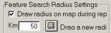 Search radius