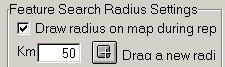 Search radius