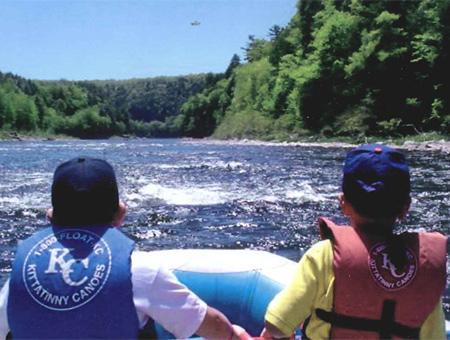 Image of children in raft