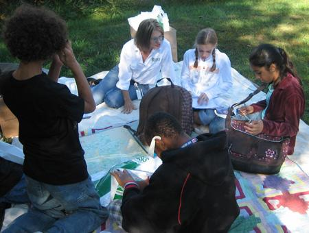 Image of students doing NCLI activity