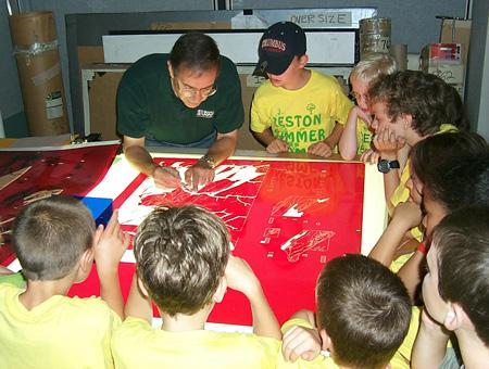 Image of students learning about maps
