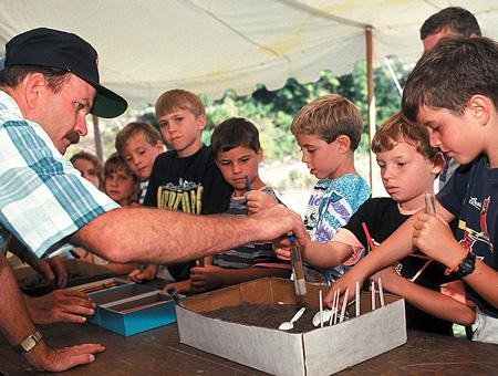 Image of students learning about soils