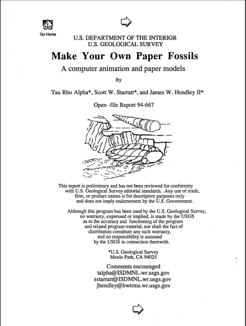 make your own fossil earth science week